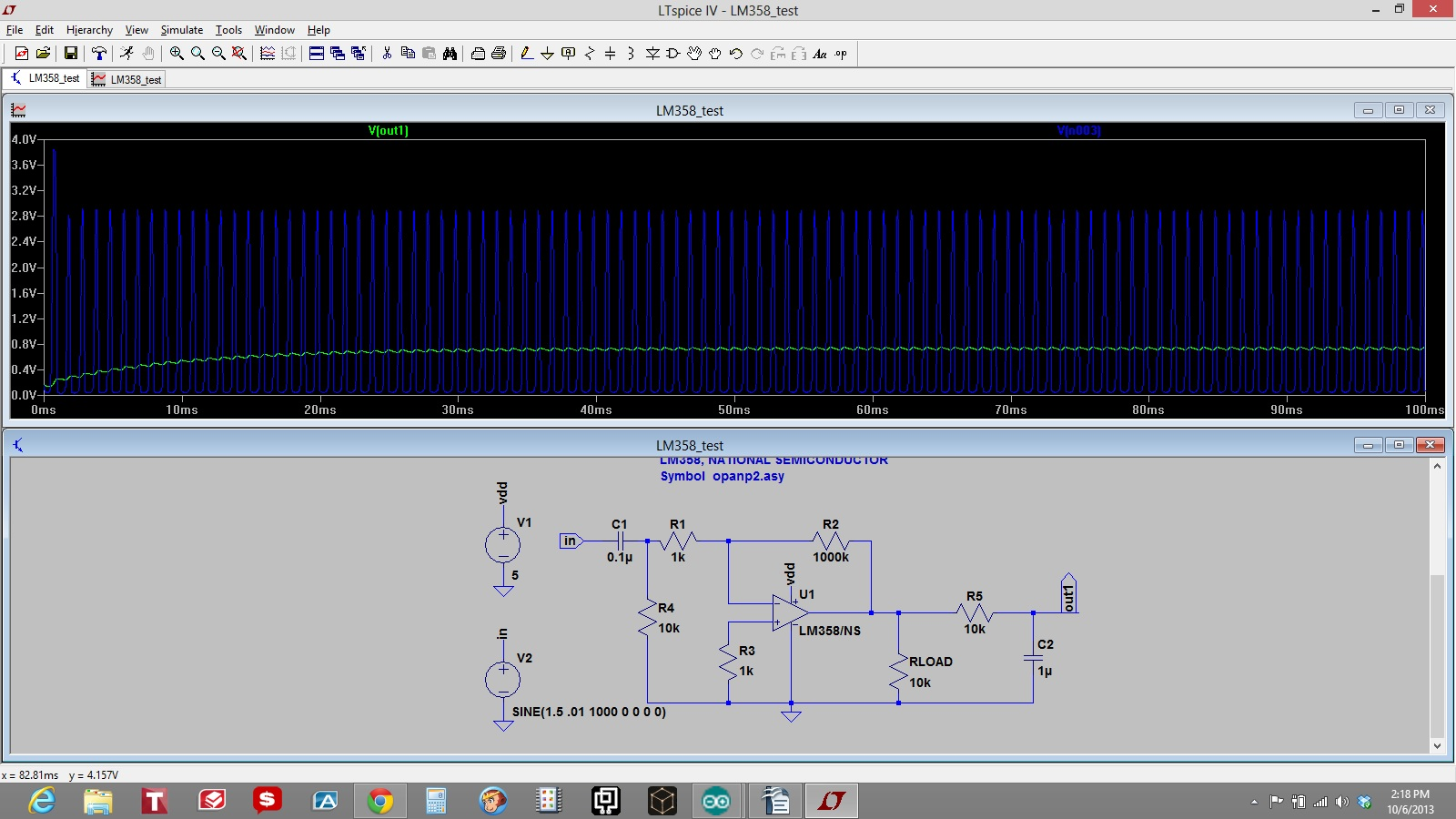How To Make A Pre Amp For Electret Microphone Wiring 10mvpeak 1khz Sine Wave Offset 15v Simulate Rather Loud Sound In An Mic